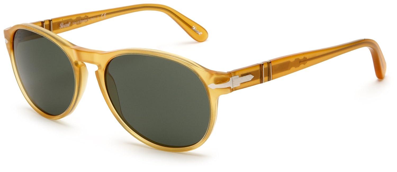 persol mens 0po2931s sunglassesyellow framegrey green lensone size persol amazonin clothing accessories - Yellow Frame Sunglasses