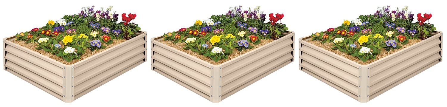 Metal Raised Garden Bed Kit – Elevated Planter Box For Growing Herbs, Vegetables, Flowers, and Succulents 3