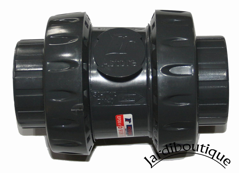 Jardiboutique - Válvula de bola antirretorno fabricada en PVC con un diámetro de bola de 40 mm. sas mv