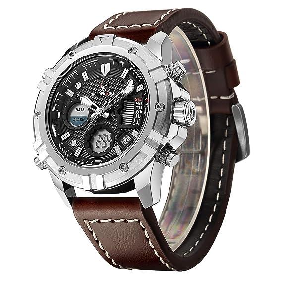 Tamlee - Reloj de pulsera para hombre, analógico, digital ...