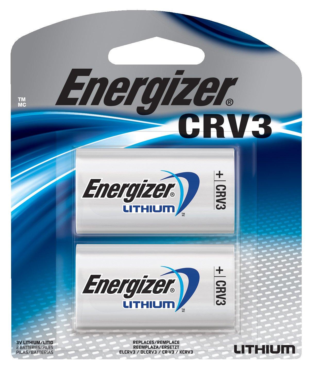 Energizer CRV3 Lithium Photo Batteries, 2-Pack