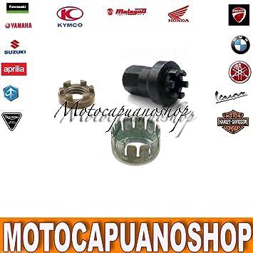 Kit completo embrague Tuerca Arandela Llave Piaggio Vespa PX 200: Amazon.es: Coche y moto