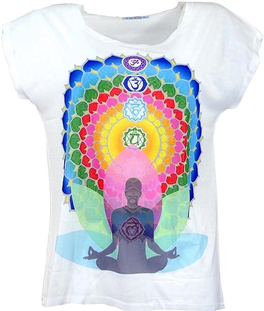 GURU-SHOP, Camiseta Psytrance, Camiseta Yoga, Camiseta Retro, 7 Chakras Yogui, Sintético, Tamaño:38, Camisetas, Camisetas, Camisetas: Amazon.es: Ropa y ...