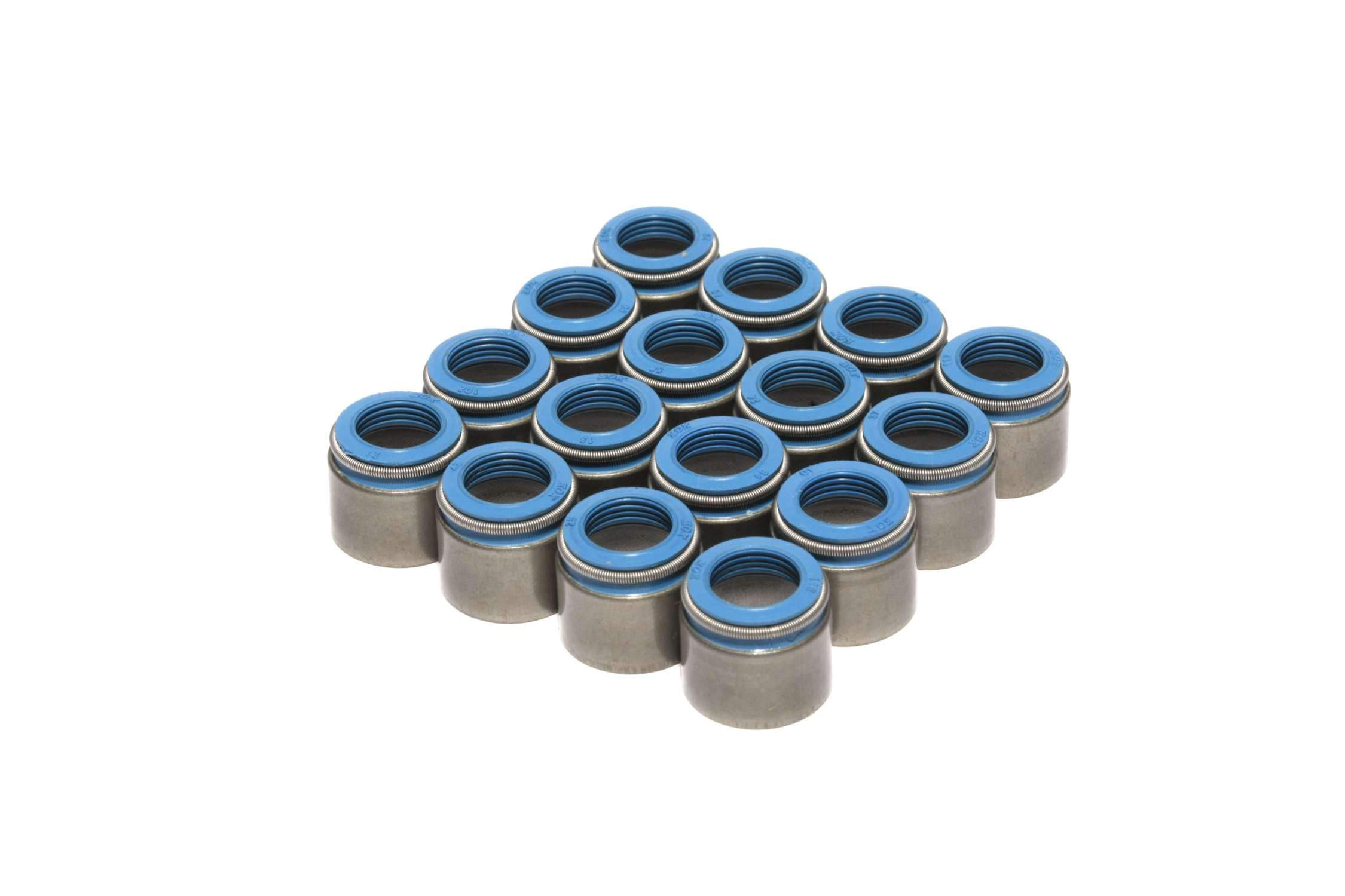 COMP Cams 522-16 Metal Body Viton Seals for .530'' Guide Size, 3/8'' Valve Stem by Comp Cams