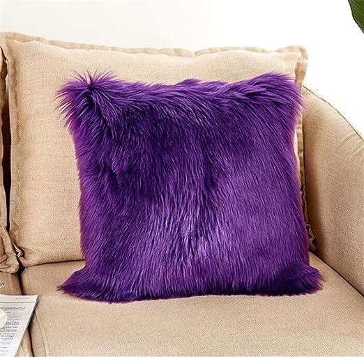 Amazon.com: Luxury Long Faux Fur Throw Pillow Case Super Soft