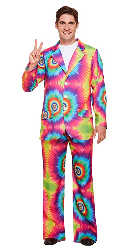 GCC Fashion Store Adultos Disfraz De Hippie Tie Dye Hombre ...
