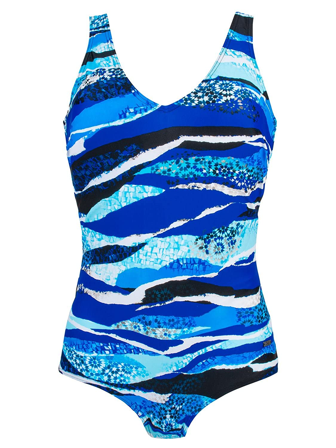 Naturana Women's Wire Free Mastectomy Swimsuit with Soft Cups 73144