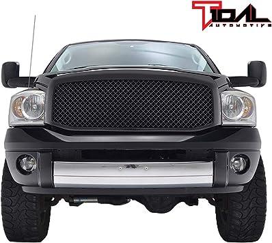 06-09 Dodge RAM 2500+3500 Front Hood Black Mesh Grille+Rivet+Replacement Shell