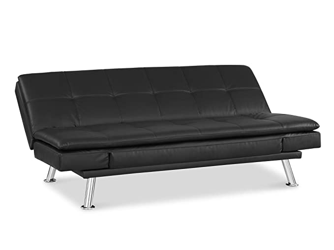 amazon com pearington pear nls s3f28 bk macon faux leather sofa and rh amazon com black friday sofa futon black metal futon sofa bed frame