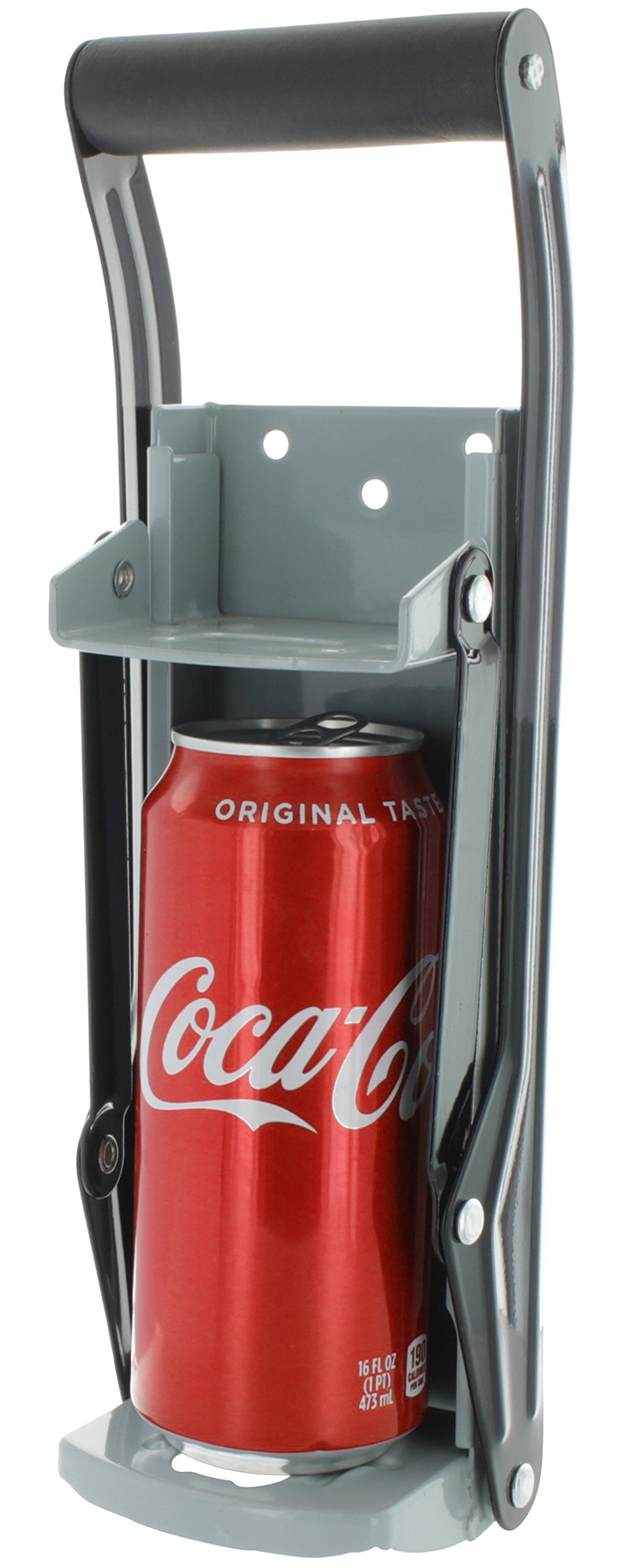 Vanitek 16 oz Aluminum Can Crusher & Bottle Opener | Heavy Duty Large Metal Wall Mounted Soda Beer Smasher - Eco-Friendly Recycling Tool by Vanitek