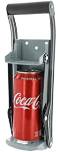 Vanitek 16 oz Aluminum Can Crusher & Bottle Opener | Heavy Duty Large Metal Wall Mounted Soda Beer Smasher – Eco-Friendly Recycling Tool