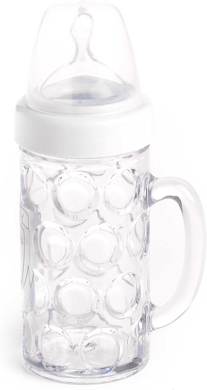 color azul Biber/ón para beb/é con forma de jarra de cerveza