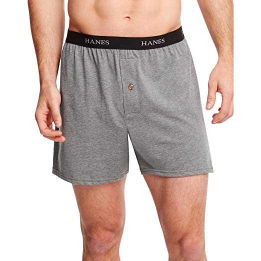 a8b83075361f Hanes Men's ComfortSoft Knit Boxers Comfort Waistband 5-Pack at Amazon  Men's Clothing store: