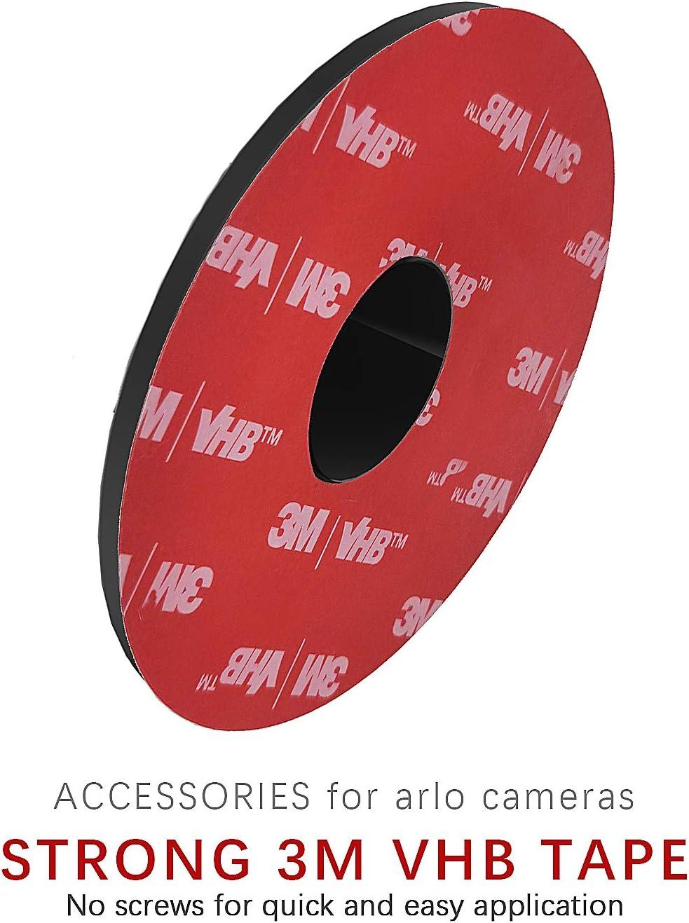 f/ácil de instalar no necesita herramientas negro TIUIHU Kit de montaje en pared sin tornillos para el nuevo parpadeo al aire libre XT2 Blink XT Blink Mini paquete de 1