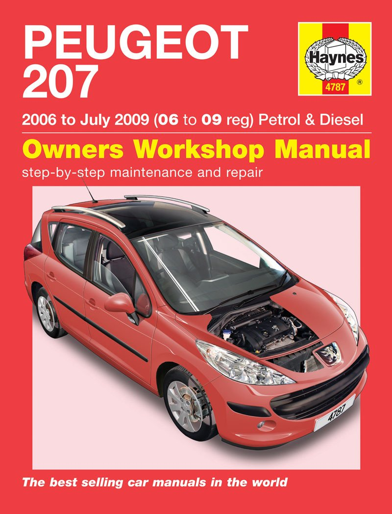Peugeot 207 Repair Manual Haynes Manual Service Manual Workshop Manual  2006-2009