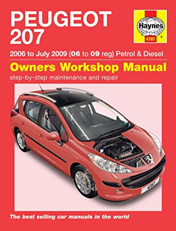 peugeot 207 repair manual haynes manual service manual workshop rh amazon co uk peugeot 207 1.4 hdi repair manual peugeot 207 repair manual free download