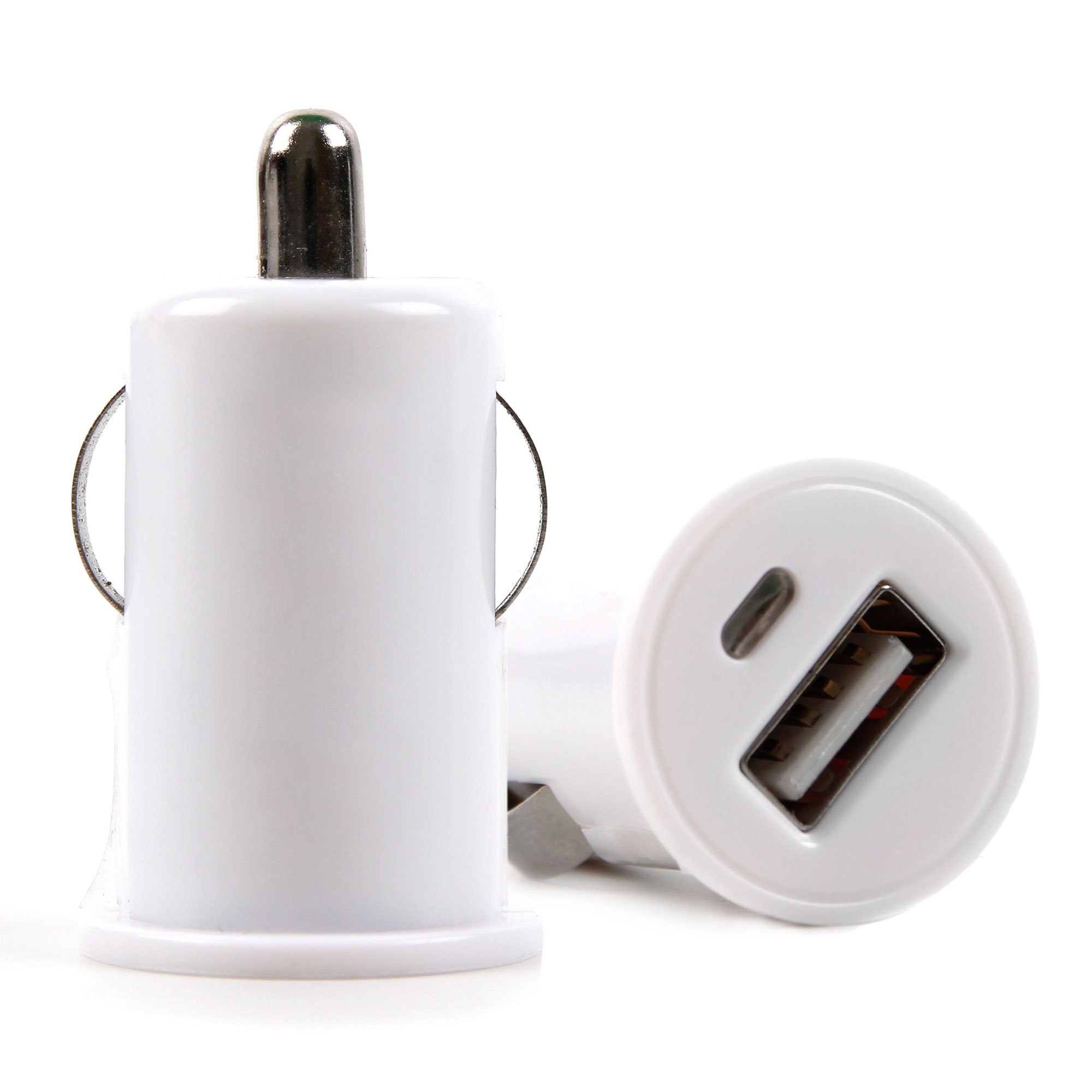 """DURAGADGET White USB Satnav in Car Charger - Compatible with Garmin Drive 51LMT-S 5""""   Zumo 345LM   346LMT-S   396LMT-S   595LM"""