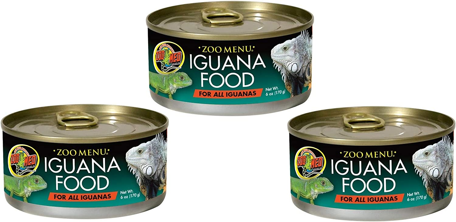 Adult Iguana Food in Cans/Wet [Set of 3]
