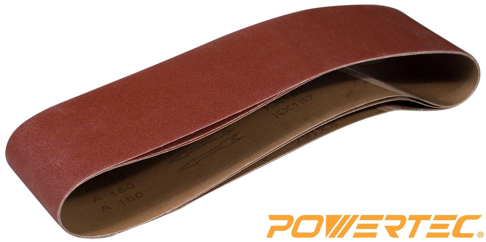 POWERTEC 110183 6-Inch x 48-Inch 100 Grit Aluminum Oxide Sanding Belt, 3-Pack by POWERTEC (Image #1)
