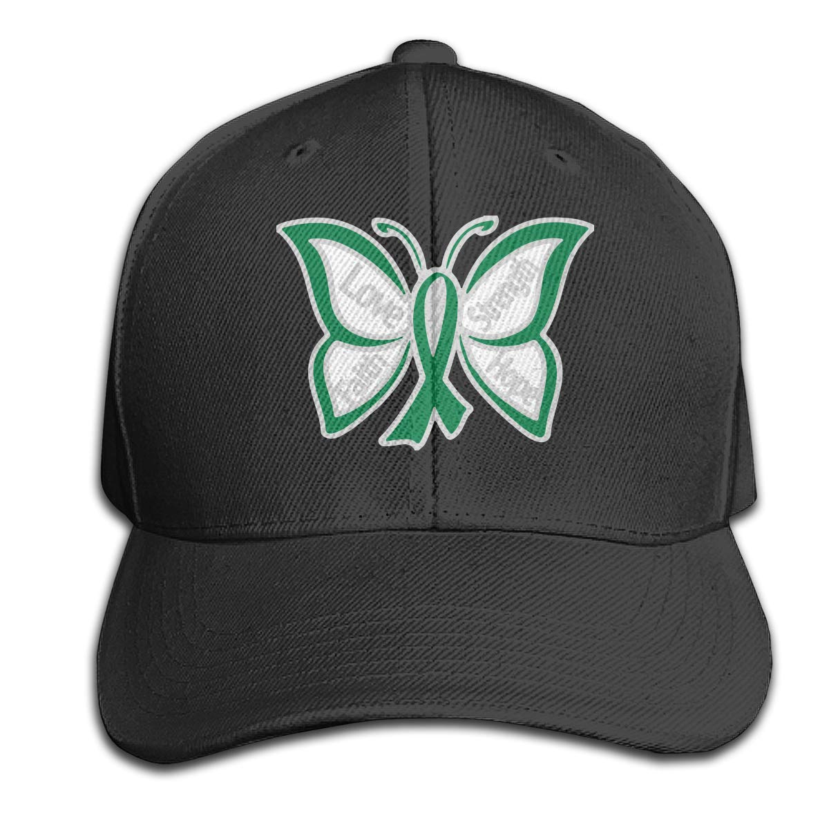 Ribbon Butterfly-Liver Cancer Unisex Baseball Cap Adjustable Plain Hat for Women Men