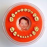 Lumage Firsty® Round - Cajita de Dientes de Leche (Naranja) (Bebé / Niño)