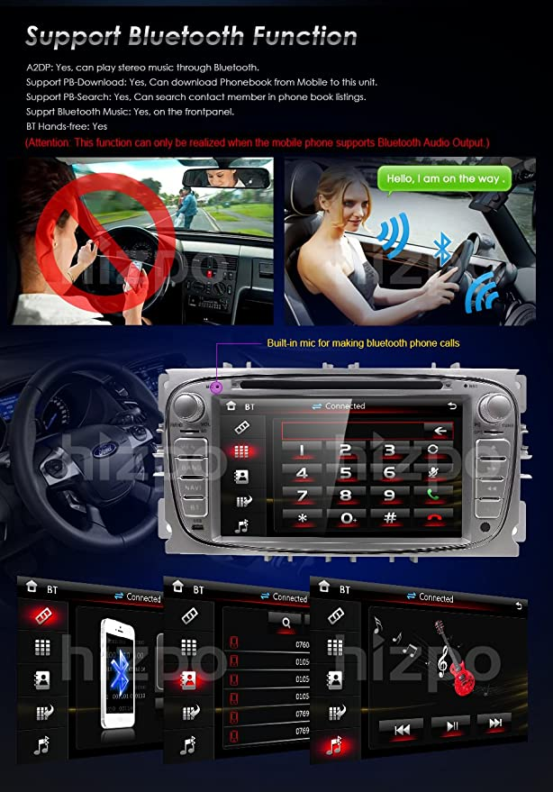 Car DVD Radio estéreo Fascia Facia Panel Frame for Ford Focus
