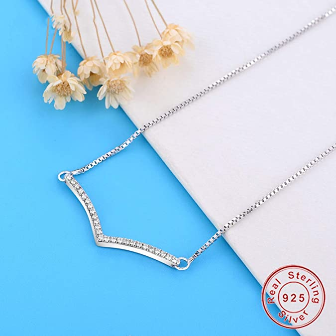 Daisy-OU 2019 New 925 Sterling Silver Shimmering Wish Necklace Necklace 925 Silver Pendant for Women Necklace DIY Jewelry Berloque