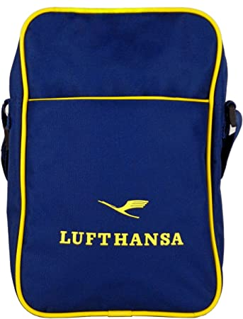 Tcm Tchibo Lufthansa Umhangetasche Messenger Tasche Blau Gelb Amazon De Koffer Rucksacke Taschen