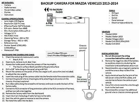 71 URJKzfbL._SX450_ amazon com pyvideo backup camera kit for mazdafor sedan, wagon  at fashall.co