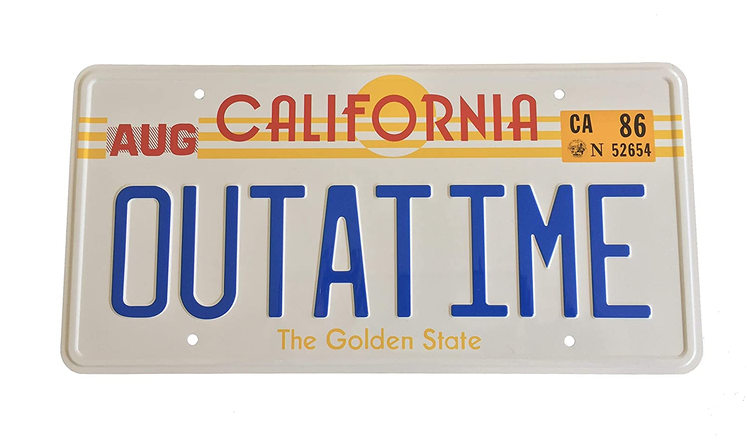 OUTATIME Back To The Future prop License Plate Back to the Future number plate as seen on Marty McFly and Doc Browns DMC-12 Delorean.