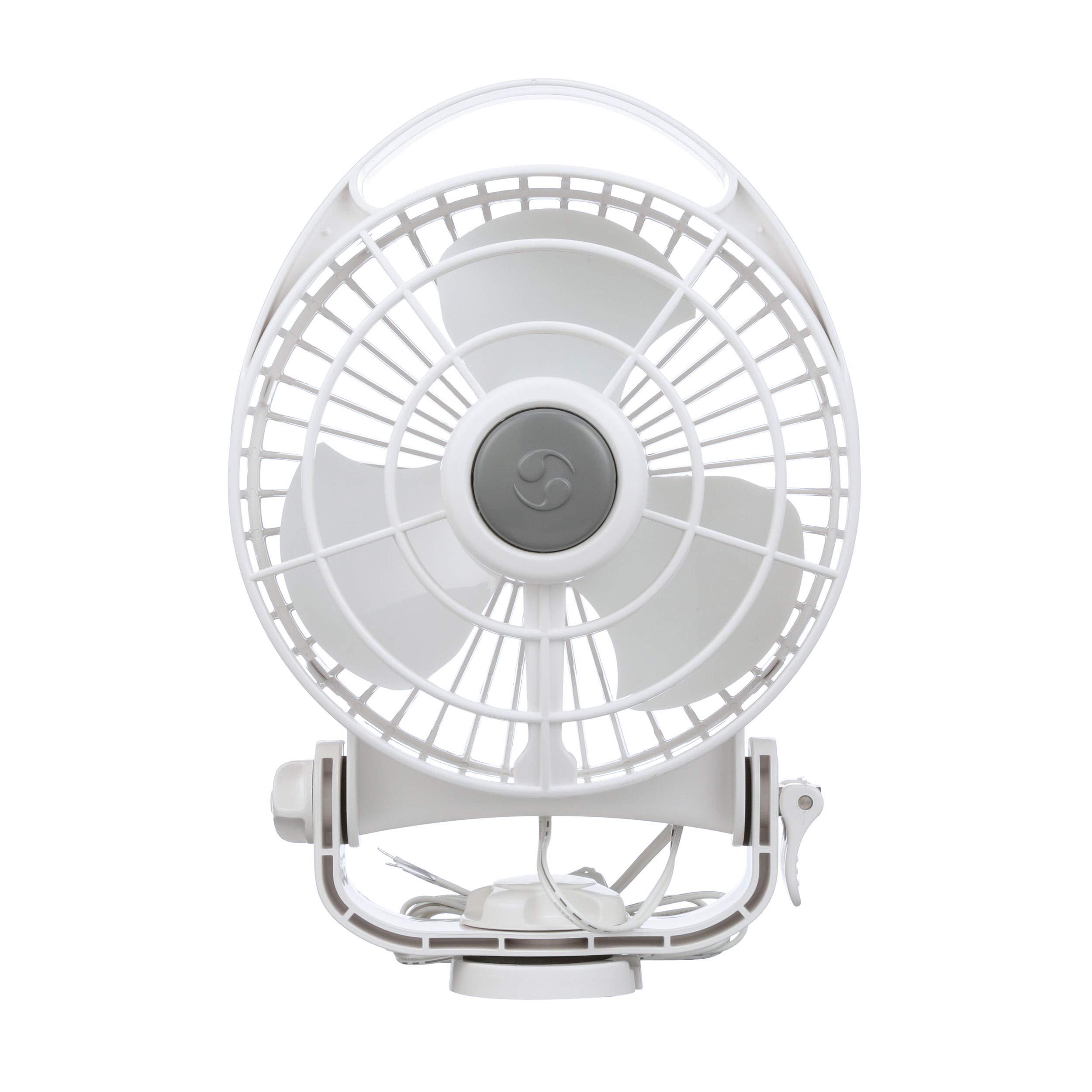 Caframo Bora. 12V Marine Fan. Direct Wire, Low Draw, 5000 Hour Motor Life. White by Caframo Marine