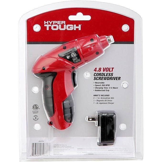 Hyper Tough 4.8 Volt Cordless Screwdriver - - Amazon.com
