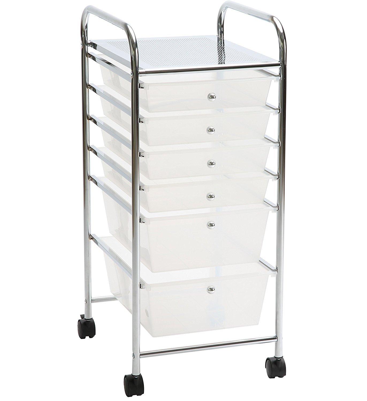 ASPECT Aspetto Aspen cassettiera da ufficio/salone di bellezza/Home Storage cart, bianco, 33x 39x 81cm BR121W