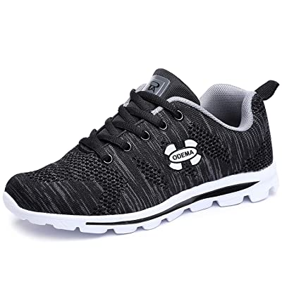 Odema Women Athletic Running Breathable Mesh Walking Shoes Ultra Light Lace Up Lowtop Sneakers | Walking