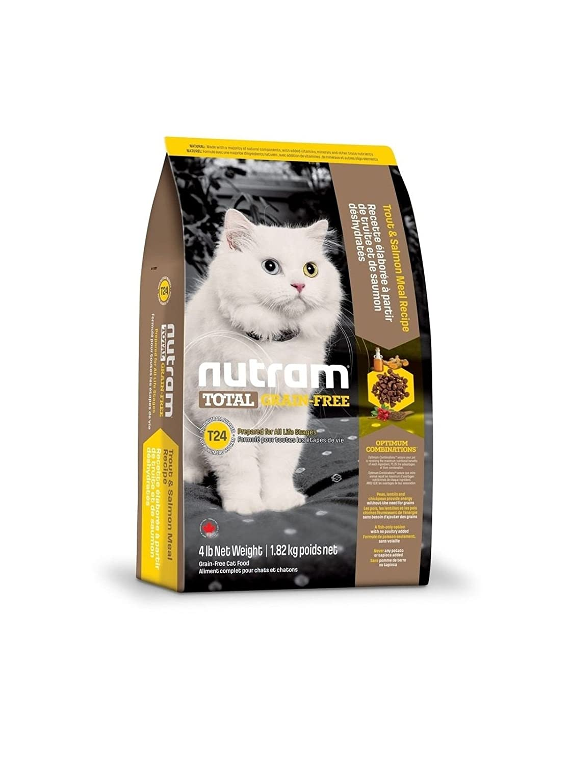 Nutram Complete Dry Grain Free Cat and Kitten Food Salmon and Trout, 6.8 kg