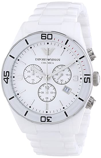 b3355f1ca9e3 Emporio Armani AR1424 - Reloj cronógrafo de cuarzo para hombre con correa  de cerámica