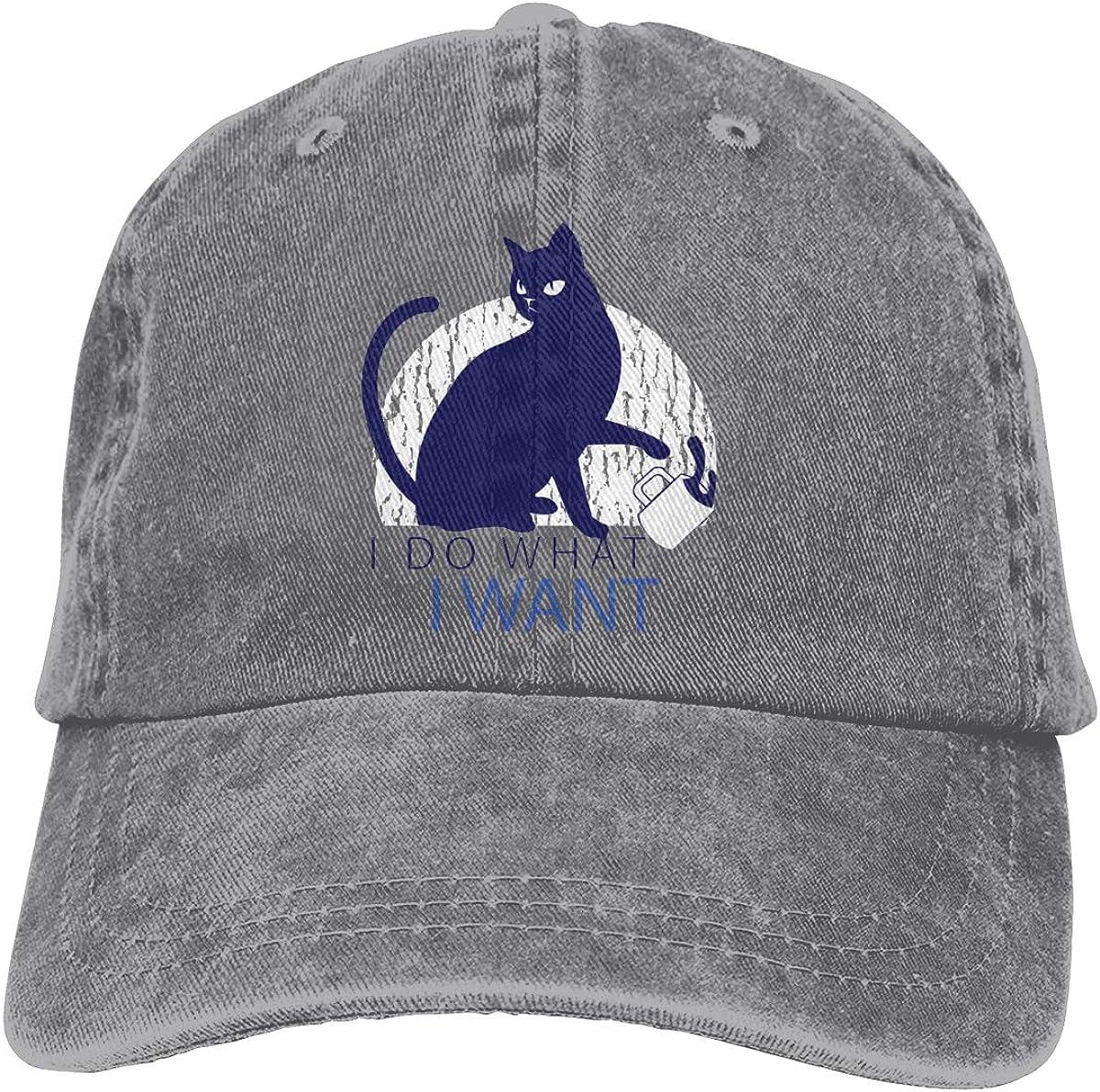 I Do What I Want Vintage Unisex Adjustable Baseball Cap Denim Dad Hat