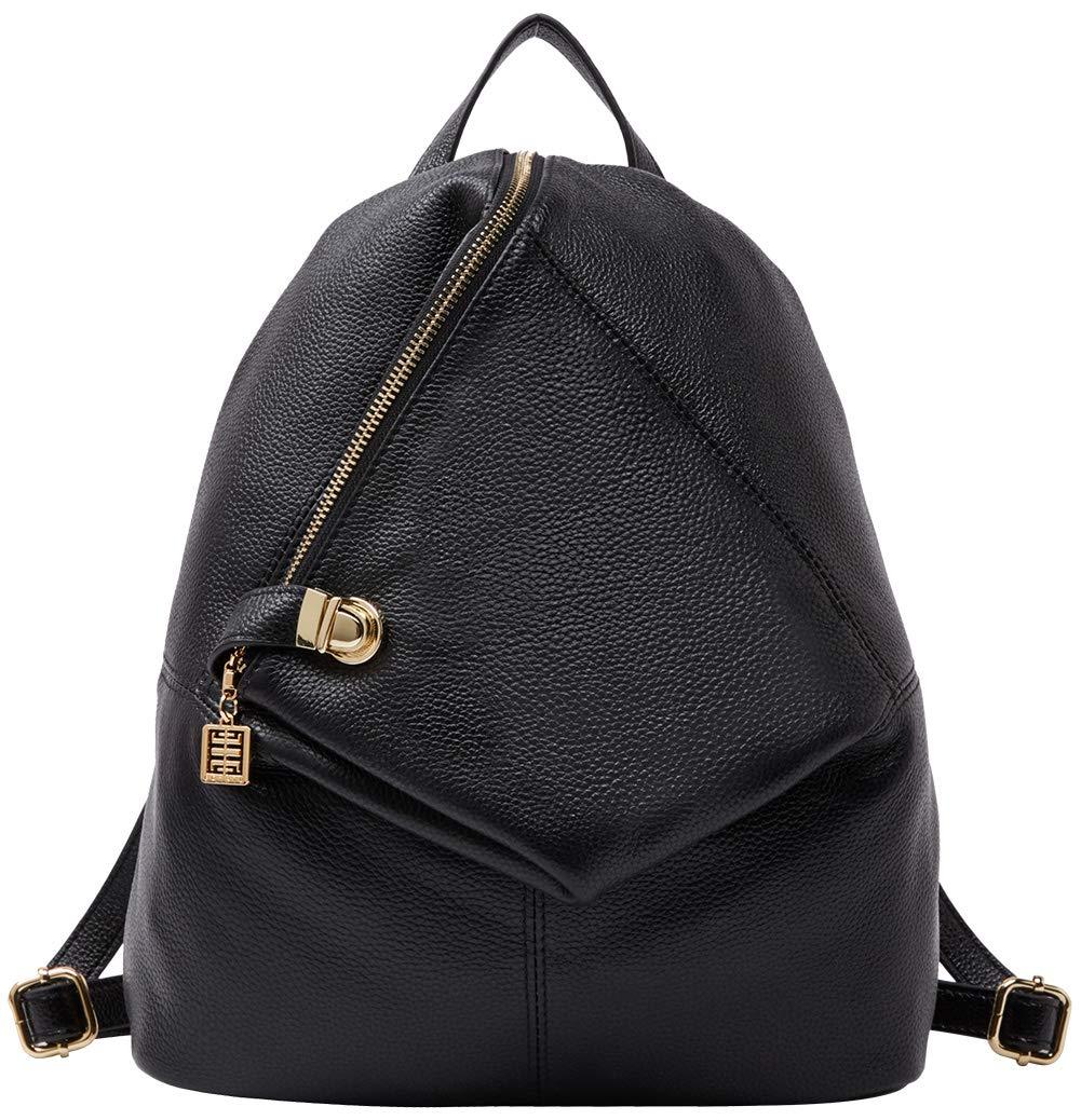 BOYATU Genuine Leather Backpack for Women Fashion Ladies Purse Anti Theft Bag