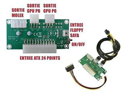 Kalea Informatique - Adaptador de alimentación ATX para ...