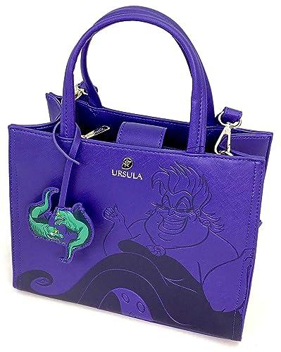 8462cc07804 Amazon.com  Loungefly x Disney The Little Mermaid Ursula Debossed Crossbody  Bag with Eel Charm (One Size