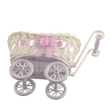 Mini cochecito bebé Cestas y favorece. Cesta de ducha carrito Vintage Craft