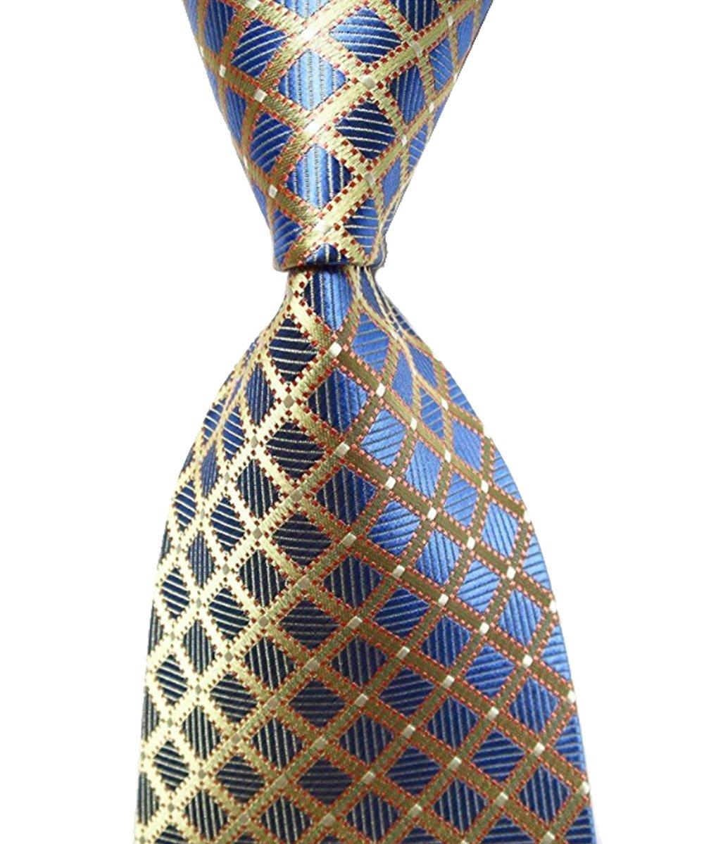 Wehug Lot 6 PCS Men's Ties 100% Silk Tie Woven Necktie Jacquard Neck Ties style003 by Wehug (Image #6)