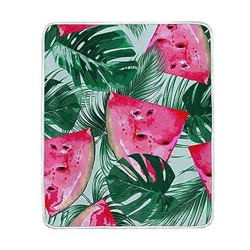Alaza Tropical Wassermelonen Und Palmblättern übergroße überwurf