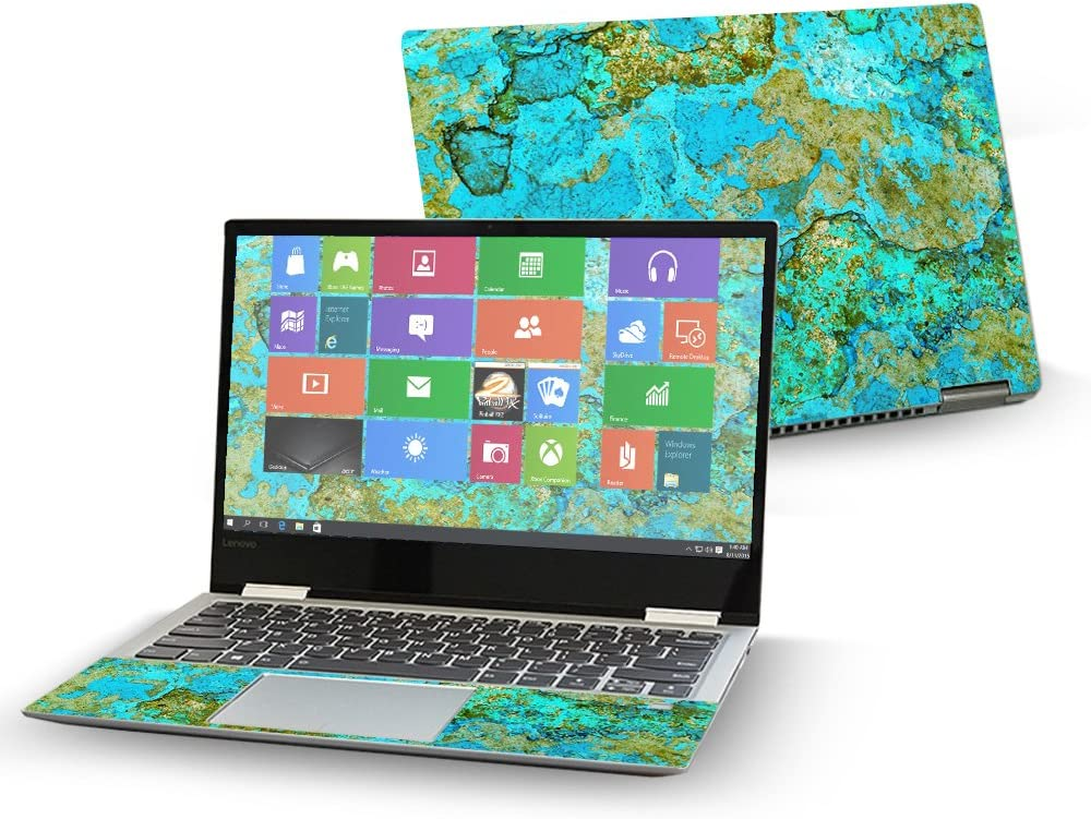 """MightySkins Skin Compatible with Lenovo Yoga 720 13"""" (2017) - Teal Marble 