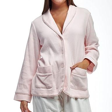 5e84aff9f9f La Cera Women s Bed Jacket Plus Size 4X Pink at Amazon Women s ...