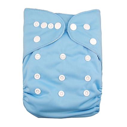 Lilbit doble filas de Snaps bolsillo bebé pañales pale blue Talla:talla única