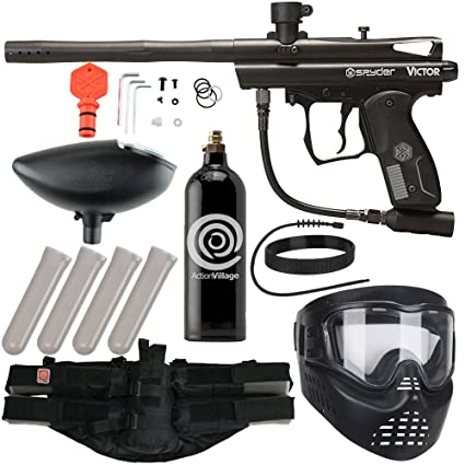 3424c51dc5 Action Village Kingman Spyder Epic Paintball Gun Package Kit (Victor)  (Black)