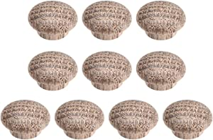 uxcell Wood Button Plugs 0.4 Inch Oak Screw Hole Furniture Plugs 10 Pack