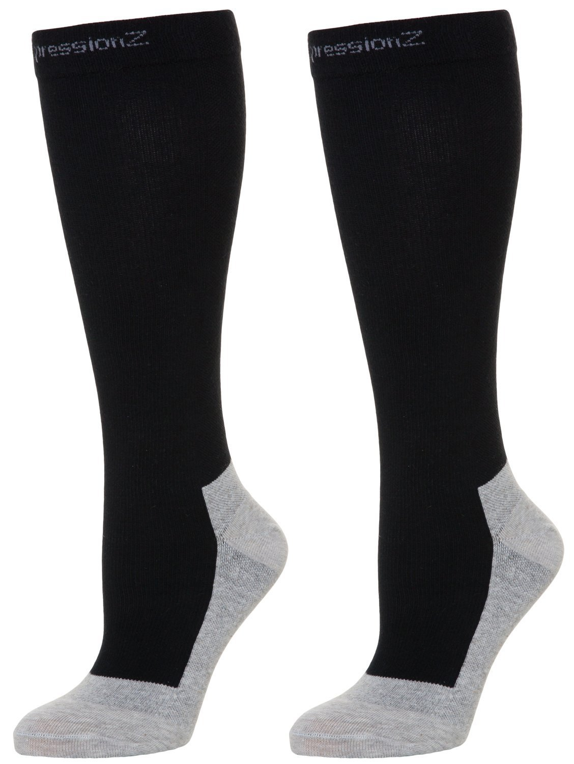 Compression Socks 30-40mmHg (1 Pair - Black L) - Best High Performance Athletic Running Socks - Men & Women