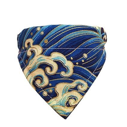 0c824a21789a Fashion Pet Neckerchief Collar Triangle Bibs Scarf Accessories Japanese  Style Saliva Towel Adjustable Tie